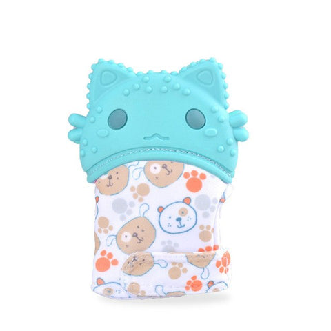 Baby Silicone Cartoon Shaped Teether Glove Wrapper Soft