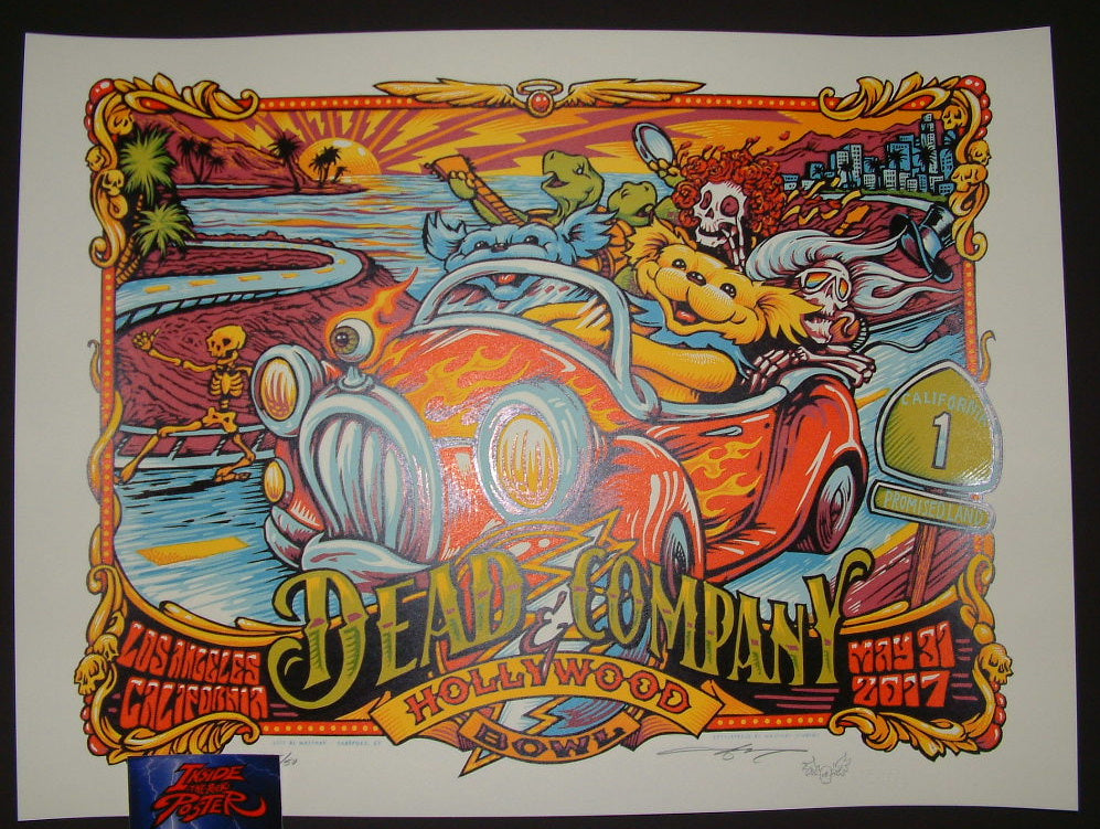 AJ Masthay Dead & Company Poster Los Angeles 2017 Artist Edition Night 1