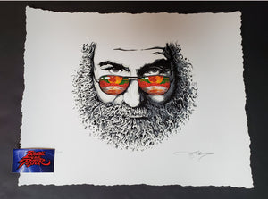 AJ Masthay Palm Sunday Jerry Garcia Art Print 2019