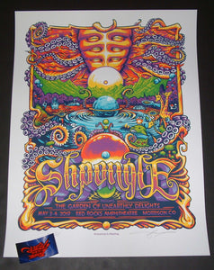 AJ Masthay Shpongle Morrison Poster Purple Variant Artist Edition 2019