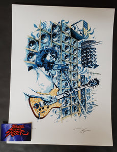 AJ Masthay Stella Blue Jerry Garcia Art Print 2021 2nd Edition