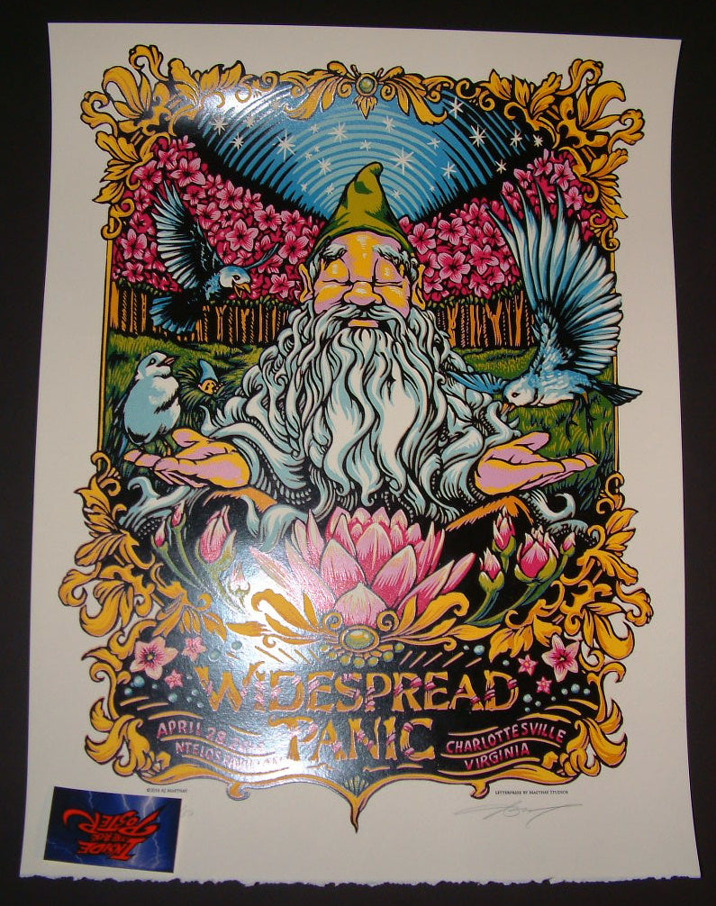 AJ Masthay Widespread Panic Poster Charlottesville 2016 Artist Edition