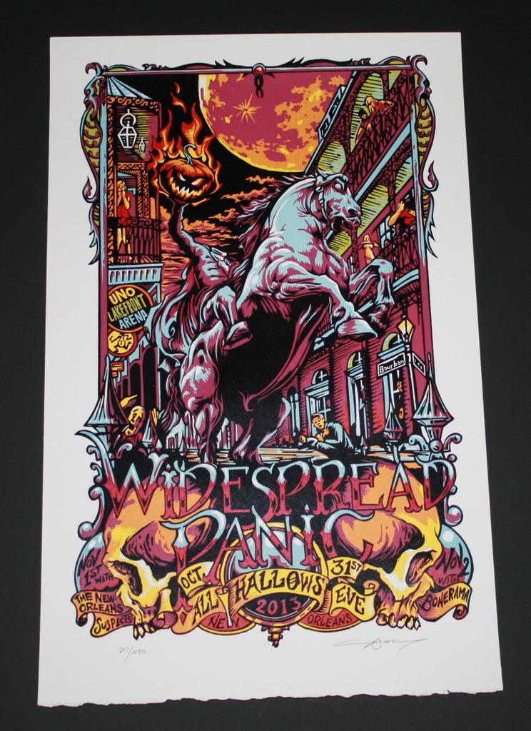 AJ Masthay Widespread Panic Poster New Orleans 2013 Artist Edition S/N