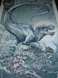 Aaron Horkey Jurassic Park Movie Poster Blue Variant Mondo 2011 S/N