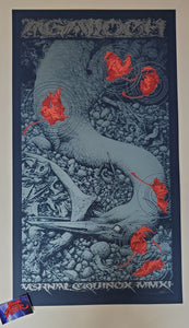 Aaron Horkey Agalloch Tour Poster Blue Variant 2011