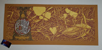 Aaron Horkey Andrew Bird Los Angeles Poster Orange Variant 2009
