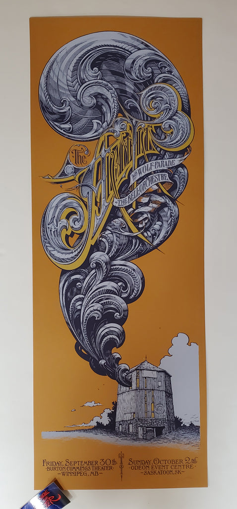 Aaron Horkey Arcade Fire Winnipeg Saskatoon Poster Orange Variant 2005