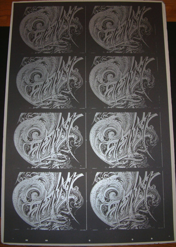 Aaron Horkey Catalyst Show Program Uncut Sheet Poster 2008
