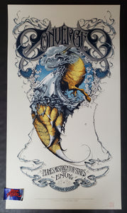 Aaron Horkey Converge Japan Tour Poster White Variant Artist Edition 2007
