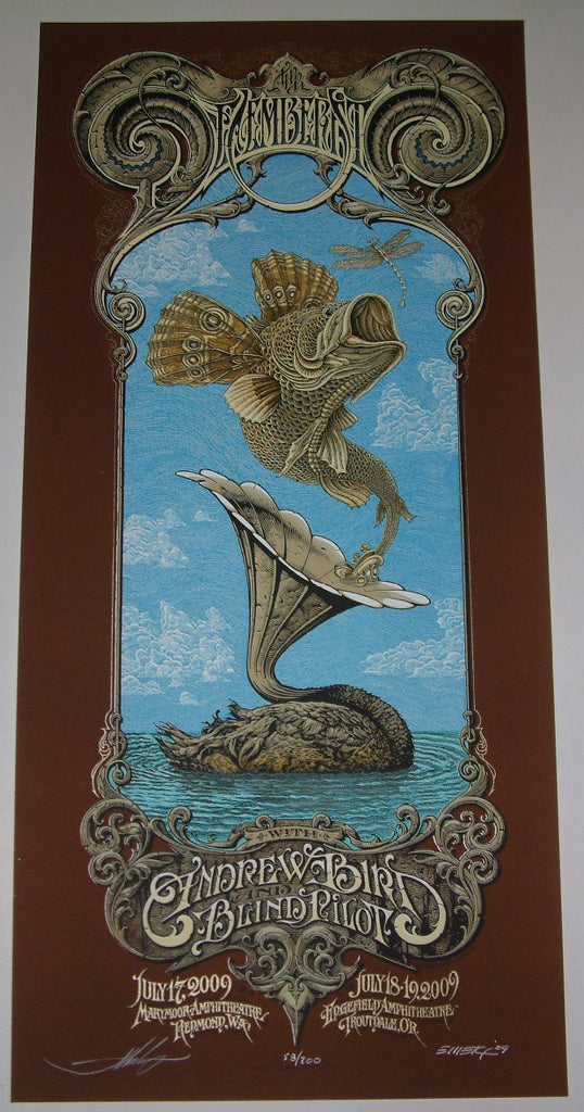 Aaron Horkey Emek Decemberists Poster Blue Grey Sky Variants 2009 Artist Edition