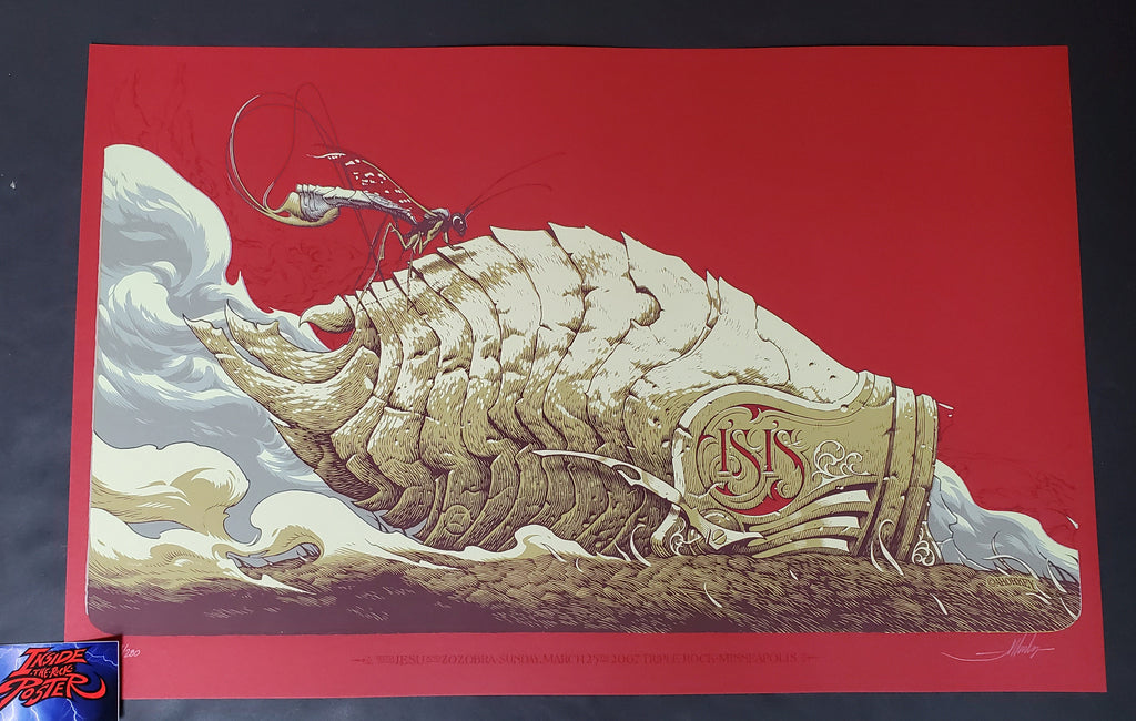 Aaron Horkey Isis Minneapolis Poster Red Variant 2007