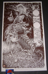 Aaron Horkey Neurosis Converge Tour Poster Red Variant 2018