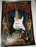 Adam Pobiak Eric Clapton Poster New York March 2017 Artist Edition