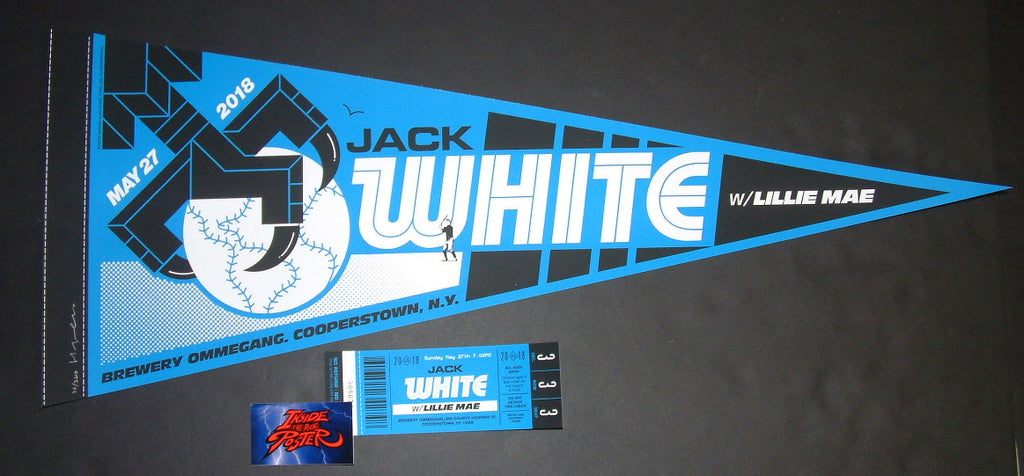 Alan Hynes Jack White Cooperstown Poster Ticket A Variant 2018 Artist Edition