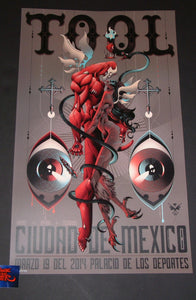 Alex Arizmendi Tool Mexico City Poster 2014
