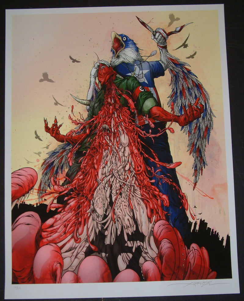 Alex Pardee The Patriot Inglourious Basterds Movie Print 2012 S/N