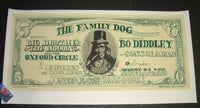 Stanley Mouse Alton Kelley Big Brother Bo Diddley Poster San Francisco 1966 Signed Family Dog