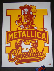 Ames Bros Metallica Cleveland Poster Artist Edition 2019