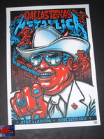 Ames Bros Metallica Dallas Poster 2017