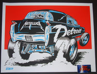 Metallica Detroit Ames Bros Poster