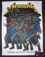 Ames Bros Metallica Foxborough Poster S/N Artist Edition
