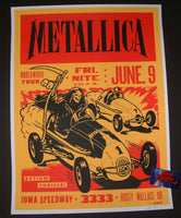 Ames Bros Metallica Newton Iowa Speedway Poster Artist Edition 2017 S/N