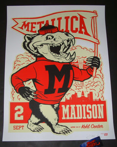 Ames Bros Metallica Poster Madison Artist Edition 2018