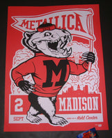 Ames Bros Metallica Poster Madison Red Variant 2018 Artist Edition