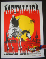 Ames Bros Metallica Poster Phoenix Arizona 2017 Artist Edition