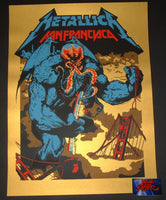 Ames Bros Metallica Poster San Francisco Super Gold Variant Outside Lands 2017 Artist Edition