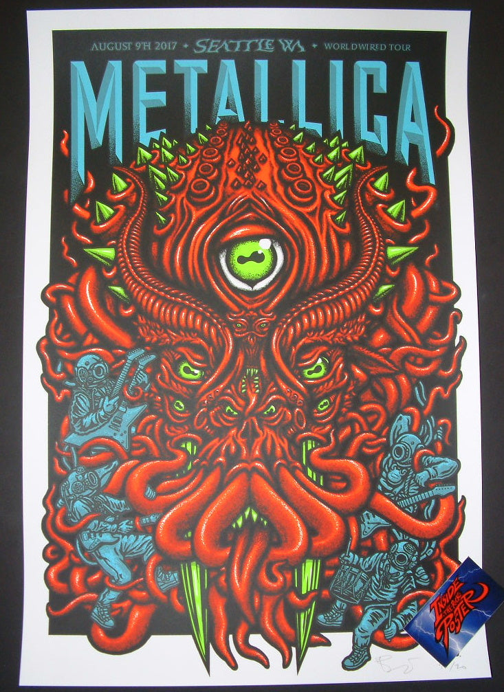 Ames Bros Metallica Poster Seattle 2017 Artist Edition