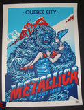 Ames Bros Metallica Poster Quebec City Canada 2017