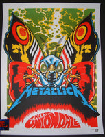 Ames Bros Metallica Uniondale Poster Moth