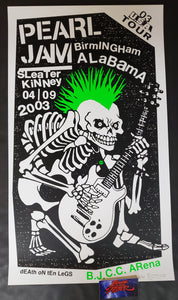 Ames Bros Pearl Jam Birmingham Poster Artist Edition 2003