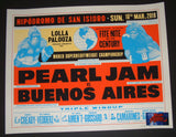 Ames Bros Pearl Jam Buenos Aires Argentina Poster 2018 Artist Edition