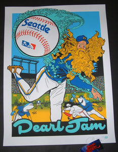 Ames Bros Pearl Jam Seattle Poster Artist Edition 2018