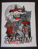 Ames Bros Pearl Jam Poster Tulsa 2014 Artist Edition