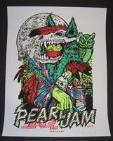 Ames Bros Pearl Jam Poster Tulsa 2014 Artist Edition Blood Moon Variant