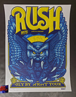Ames Bros Rush Fly By Night Tour Poster 2020