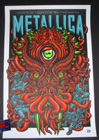 Ames Bros Metallica Poster Seattle 2017