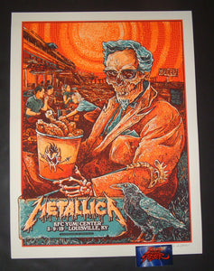 AngryBlue Metallica Louisville Poster VIP Artist Edition 2019
