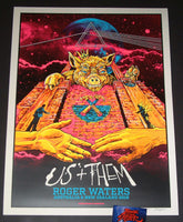 AngryBlue Roger Waters Poster Australia New Zealand Tour 2018 Artist Edition