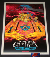 AngryBlue Roger Waters Poster North America Tour Day Glow Prism Variant 2017 Artist Edition