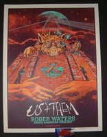 AngryBlue Roger Waters Poster North America Tour Orange Variant Artist Edition 2017