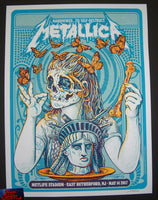 AngryBlue Metallica Poster East Rutherford VIP 2017 Signed Artist Proof