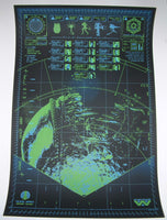 Anthony Petrie Aliens Xenomorphobia Movie Poster Glows in the Dark 2013 S/N