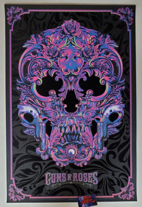 Anthony Petrie Guns N' Roses Poster Purple Variant 2021
