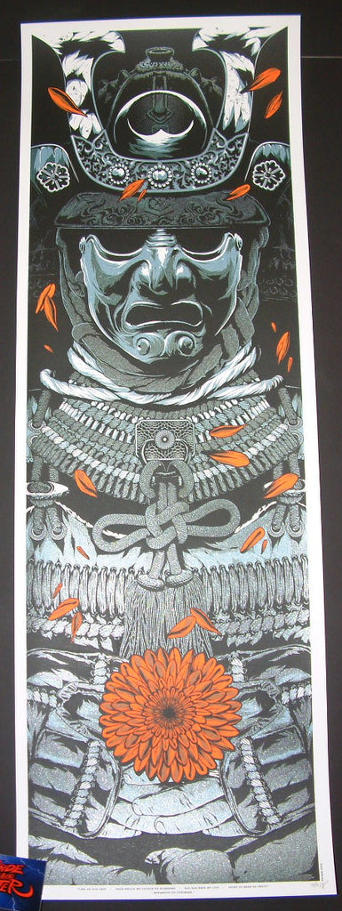 Anthony Petrie A Warrior's Dream Part 1 Art Print Blue Metallic Variant 2015