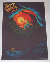 James Flames Avett Brothers Poster Bloomington 2013 Artist Edition S/N
