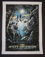 Zeb Love Avett Brothers Poster Morgantown 2014 Artist Edition